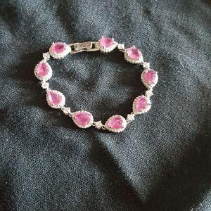 AAA CZ Stones & Ruby bracelet